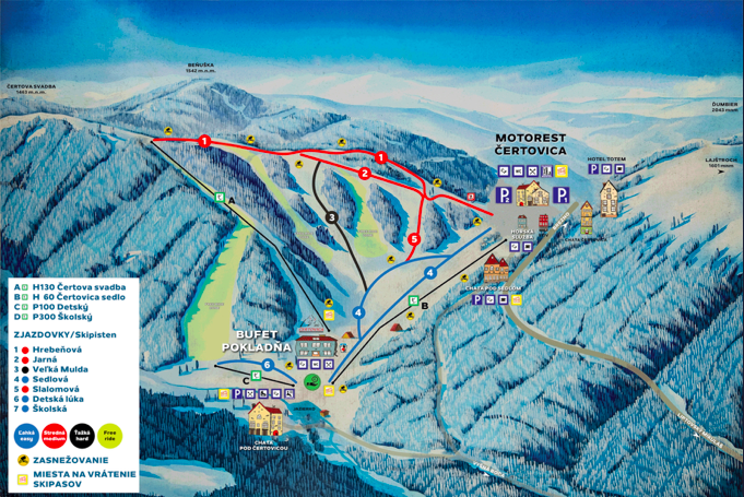 Čertovica ski mapa