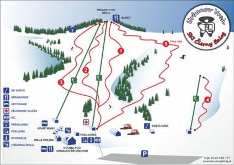 Ski urbanov vrch mapa