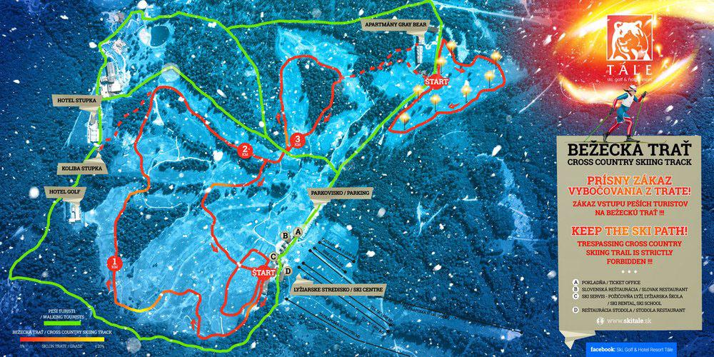 Tale mapa bezeckej trate